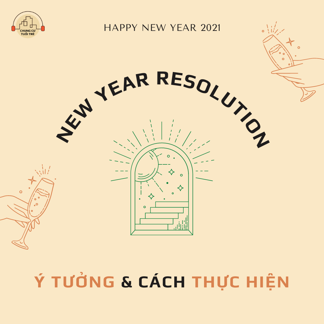 50 ý tưởng viết quyết định (resolution) cho năm mới & 5 bước để biến chúng thành hiện thực.